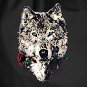 Wolf, wolves, animal, wild, blue eyes, rose Borse & Zaini - Sacca sportiva