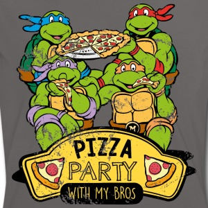 TMNT Turtles Pizza Party With My Bros - Maglietta Contrast da donna