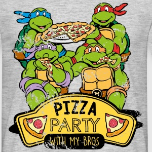 TMNT Turtles Pizza Party With My Bros - T-shirt herr
