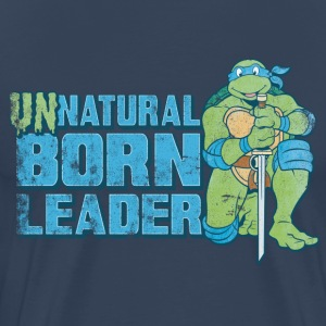 TMNT Turtles Leonardo Unnatural Born Leader - Mannen Premium T-shirt