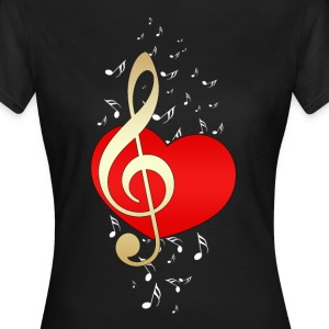 Music Love  T-Shirts - Frauen T-Shirt
