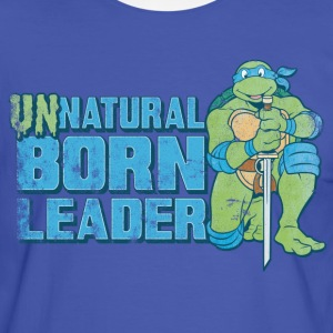 TMNT Turtles Leonardo Unnatural Born Leader - Kontrast-T-shirt herr