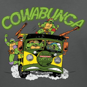TMNT Turtles Cowabunga Bus Tour - Women's V-Neck T-Shirt