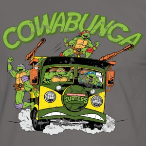 TMNT Turtles Cowabunga Bus Tour - Kontrast-T-shirt herr