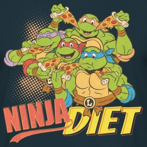 TMNT Turtles Ninja Pizza Diet - Men's T-Shirt