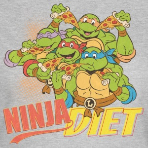 TMNT Turtles Ninja Pizza Diet - T-shirt dam