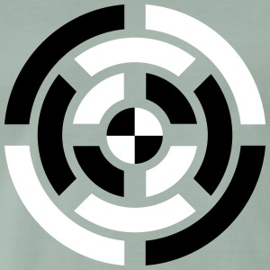 Circle, Symbol, Sign, Icon, Emblem, Badge,  T-shirts - Premium-T-shirt herr