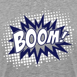 BOOM, comic, speech bubble, cartoon, balloon, dots - Men's Premium T-Shirt