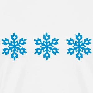 Stars, Snowflake, Ice, Winter sports, winner, ski T-Shirts - Men's Premium T-Shirt