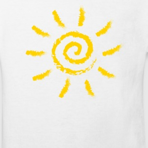 Sun, spiral, summer, spring, holiday, energy Long Sleeve Shirts - Kids' Organic T-shirt
