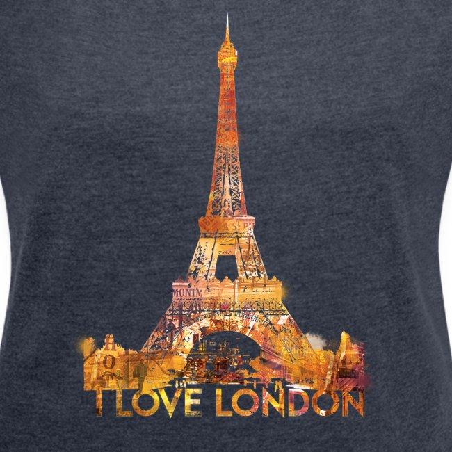 I love London 2 vrouwen opgerolde mouwen