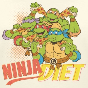 TMNT Turtles Ninja Pizza Diet - Camiseta con escote en pico mujer