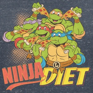 TMNT Turtles Ninja Pizza Diet - T-shirt med v-ringning dam