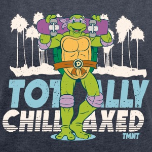 TMNT Turtles Donatello Totally Chillaxed - Vrouwen T-shirt met opgerolde mouwen
