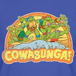 TMNT Teenage Mutant Surfing Turtles - Camiseta contraste hombre