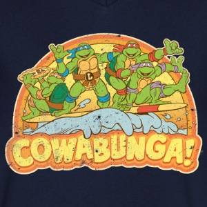 TMNT Teenage Mutant Surfing Turtles - Men's V-Neck T-Shirt