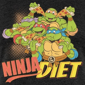 TMNT Turtles Ninja Pizza Diet - Women's Premium T-Shirt