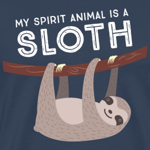 My Spirit Animal Is A Sloth T-shirts - Premium-T-shirt herr