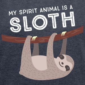 My Spirit Animal Is A Sloth T-skjorter - T-skjorte med rulleermer for kvinner