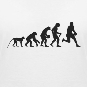 Evolution Football T-shirts - Vrouwen T-shirt met V-hals