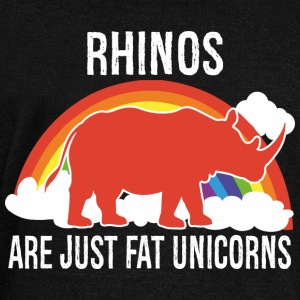 Rhinos -- are just fat Unicorns Hoodies & Sweatshirts - Women's Boat Neck Long Sleeve Top