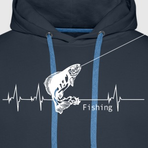 Heartbeat Fishing Hoodies & Sweatshirts - Men's Premium Hoodie