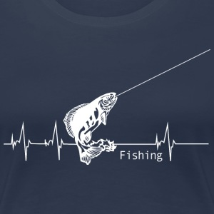 Heartbeat Fishing T-Shirts - Women's Premium T-Shirt