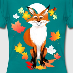 Happy Fox in Fall - Frauen T-Shirt