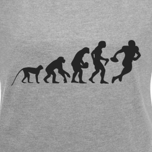 Evolution Football T-Shirts - Frauen T-Shirt mit gerollten Ärmeln