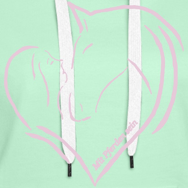 "Heart, Back: ""Personalisierbar""  Woman Hoody Print: Digital Rosé)"