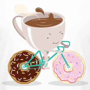 Donut Coffee Bicycle Tee shirts - T-shirt long homme