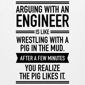 Arguing With An Engineer... Sports wear - Men's Premium Tank Top