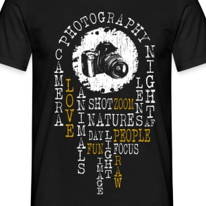 Photography word cloud T-Shirts - Männer T-Shirt