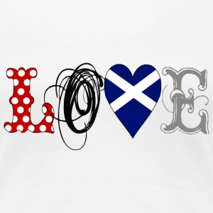 Love Scotland Black - Frauen Premium T-Shirt