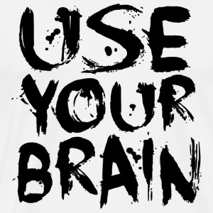 Use Your Brain - Black - Männer Premium T-Shirt