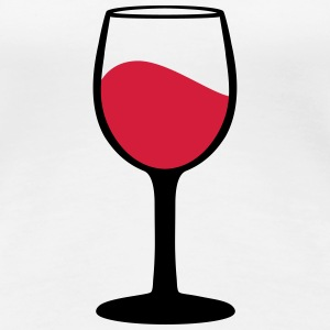 Wine glass T-shirts - Premium-T-shirt dam