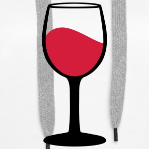 Wine glass Hoodies & Sweatshirts - Women's Premium Hoodie