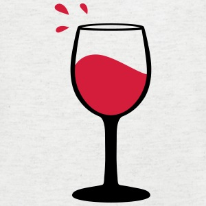 Wine glass, sommelier T-Shirts - Men's V-Neck T-Shirt
