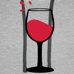 Wine glass, sommelier Hoodies & Sweatshirts - Men's Premium Hoodie