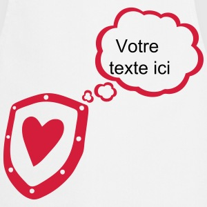 Shield heart bubble thought blank add text  Aprons - Cooking Apron