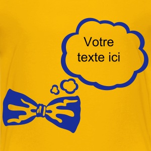 Bow tie bubble think add text Shirts - Kids' Premium T-Shirt