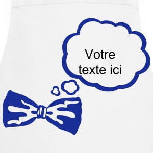 Bow tie bubble think add text  Aprons - Cooking Apron