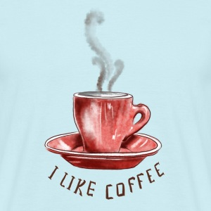 I like coffee T-Shirts - Männer T-Shirt