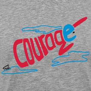 Courage superhero for kids - Männer Premium T-Shirt