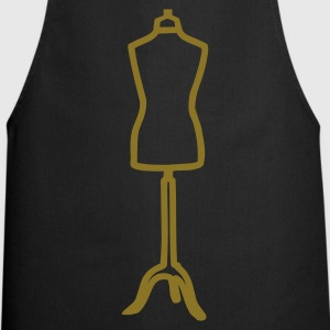 Black dress form  Aprons - Cooking Apron