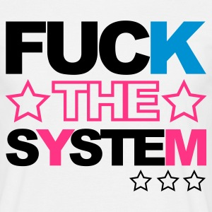 White Fuck the System V2 Men's T-Shirts - Men's T-Shirt