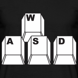 Black WASD Gamer Men's T-Shirts - Men's T-Shirt