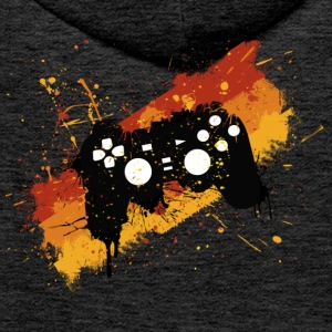 Brown Controller Graffiti Gamer Hoodies & Sweatshirts - Men's Premium Hoodie