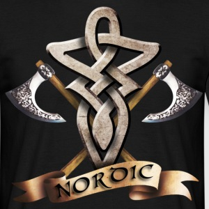 tribal_knot_viking_d T-shirts - Herre-T-shirt