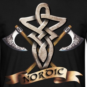 tribal_knot_viking_d T-skjorter - T-skjorte for menn